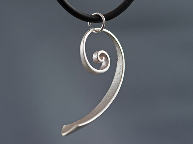 Spiral-Phi in Polished Silver