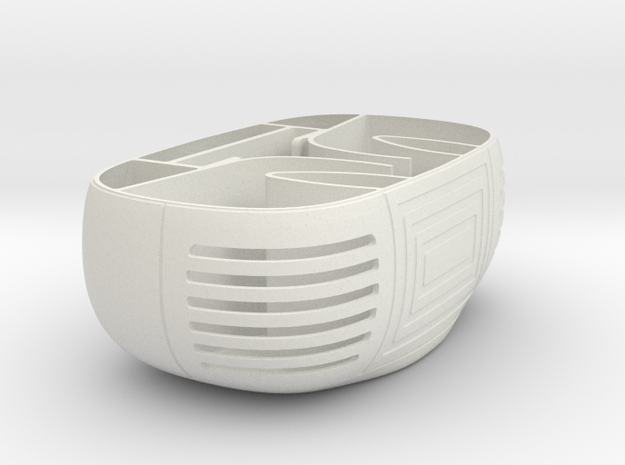Smartphone Boom Box Base in White Strong & Flexible