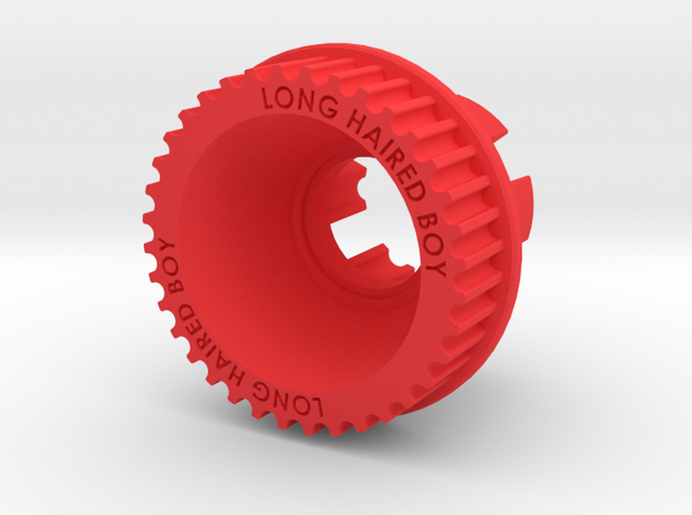 13mm 36T Pulley For Flywheels in Red Processed Versatile Plastic