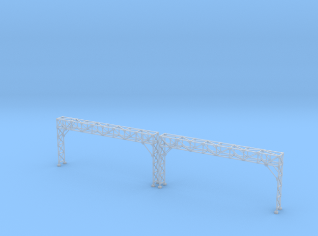 N Scale Signal Gantry 4 tracks 2pc in Smooth Fine Detail Plastic