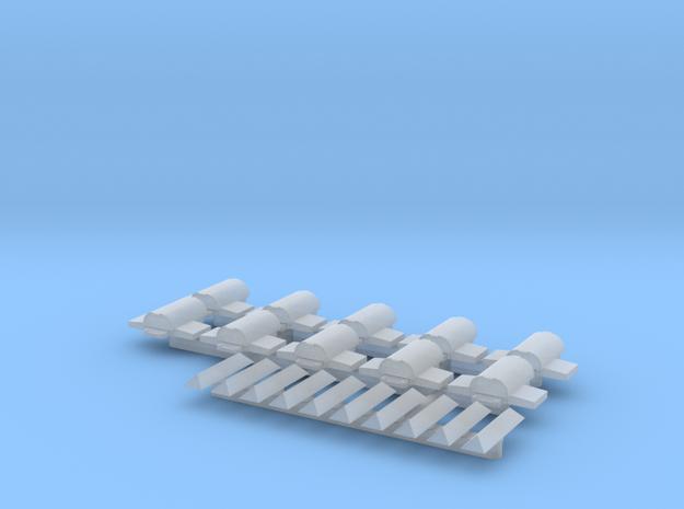 Setje wisselmotoren en vrijbalken NS 1:160