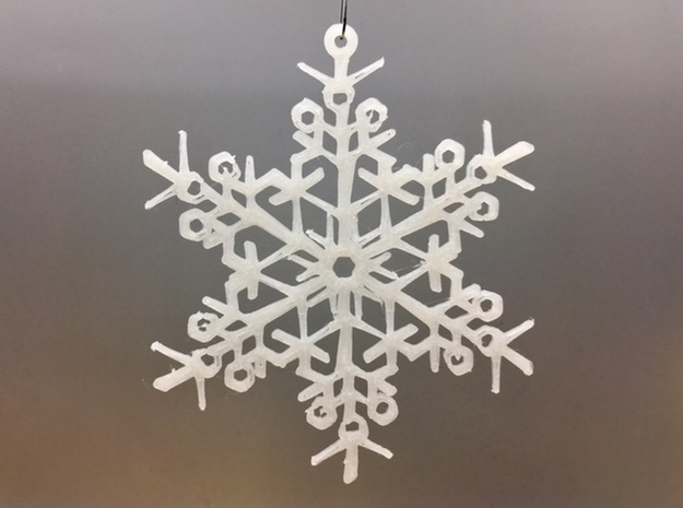 Organic Snowflake Ornament - Finland in White Natural Versatile Plastic