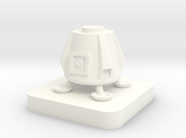 Mini Space Program, Dragon Lander in White Processed Versatile Plastic