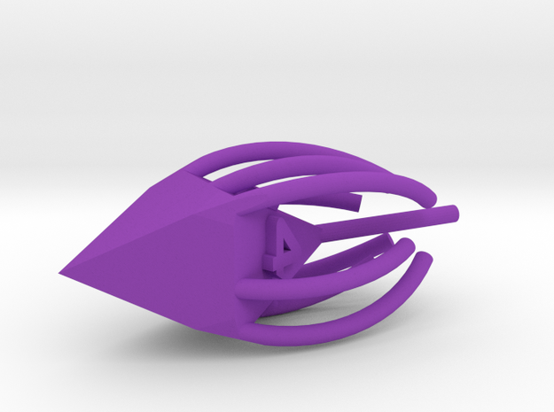 Magic missile d4 in Purple Processed Versatile Plastic