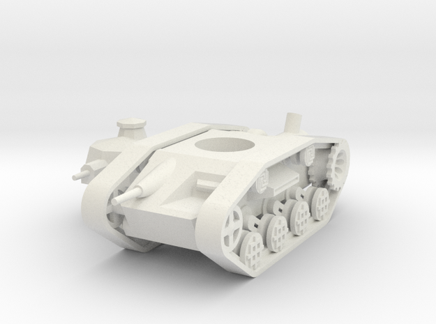 1/100 Dwarven Battlewagon (steam version) in White Natural Versatile Plastic