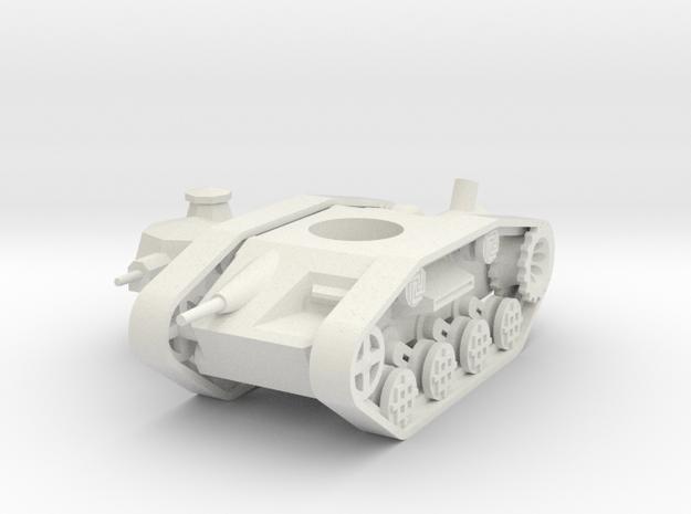 1/100 Dwarven Battlewagon (steam version) in White Natural Versatile Plastic