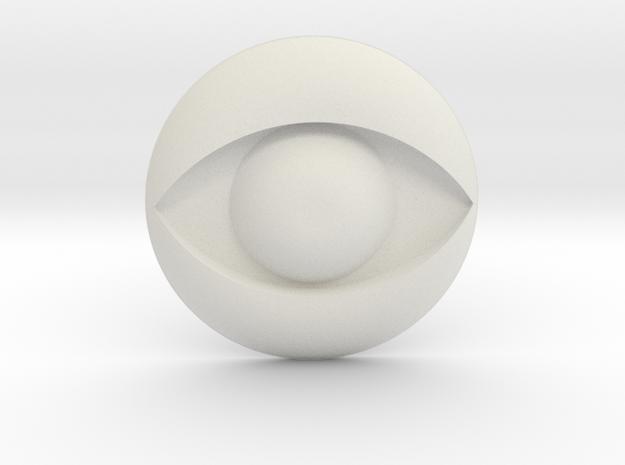 Eye Logo in White Natural Versatile Plastic