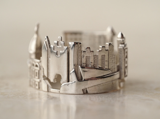 Atlanta Georgia Statement Cityscape Ring in Polished Silver: 5 / 49