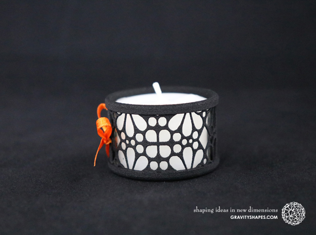 Set of 2 small tealight holders with Mosaic-3a