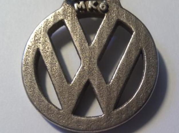 Keychain VW  3d printed Printed in stainless steel