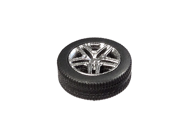 """1/87 Car tyres """"SUV"""" - wheels with profile in Smooth Fine Detail Plastic"""