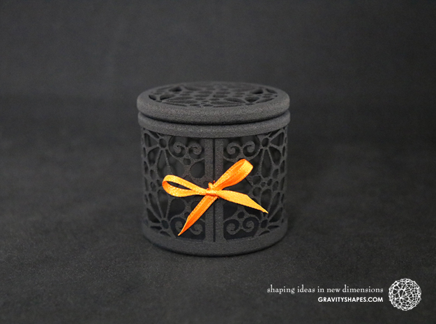 Gift Box No. 116 with Mosaic-3 (filigree, high) in Black Natural Versatile Plastic