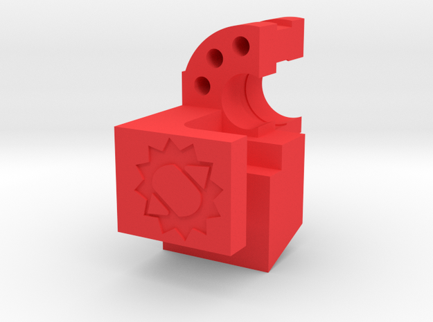 Canned Airlock V1 in Red Processed Versatile Plastic