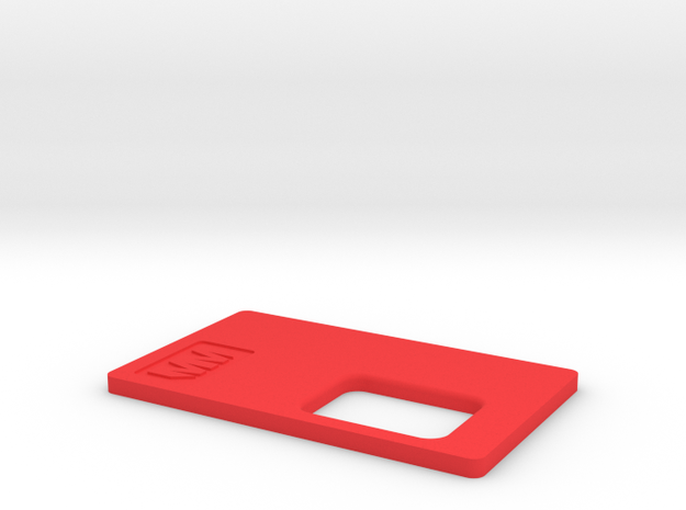 MM Mech Squonk Lid (18650) in Red Processed Versatile Plastic