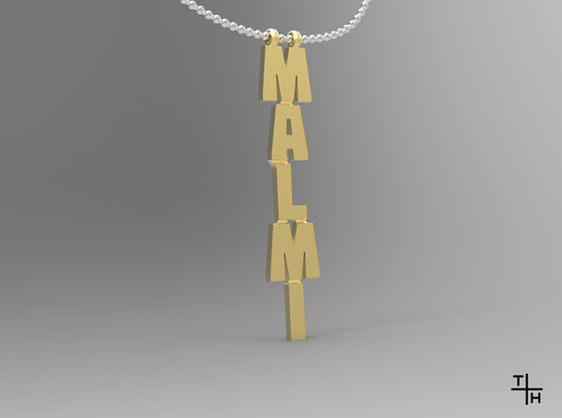 Necklace: Malmi in Polished Gold Steel