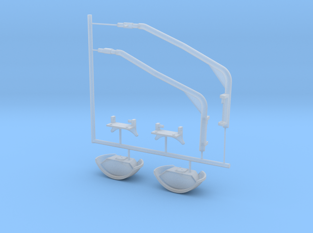 M-ATV front mirrors, 1/16 scale in Smooth Fine Detail Plastic
