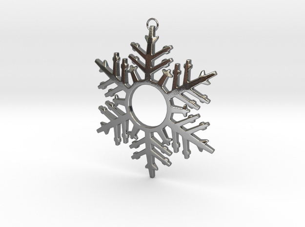 Snowflake Celebration in Polished Silver