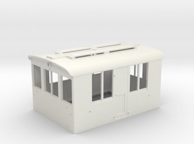 GE 23 Ton Freight Motor Cab in White Natural Versatile Plastic