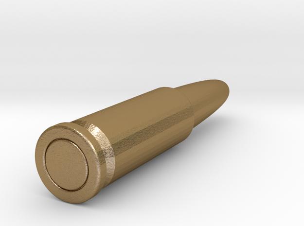James Bond Golden Bullet in Polished Gold Steel