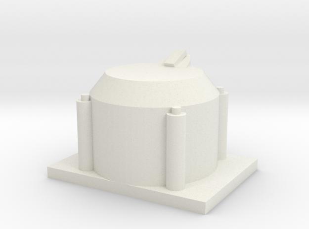 Single Axle Box v.1 1/25 Scale in White Natural Versatile Plastic