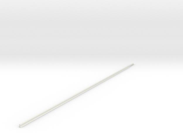 Single Track 1/25 in White Natural Versatile Plastic