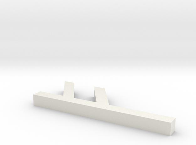 Rune_Fehu in White Natural Versatile Plastic