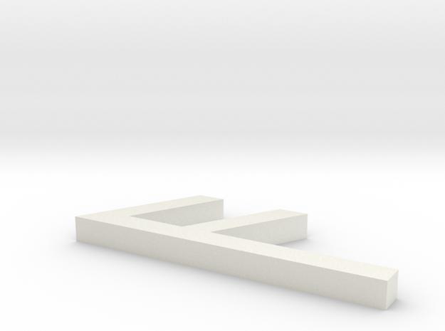 Rune_Ansuz in White Natural Versatile Plastic