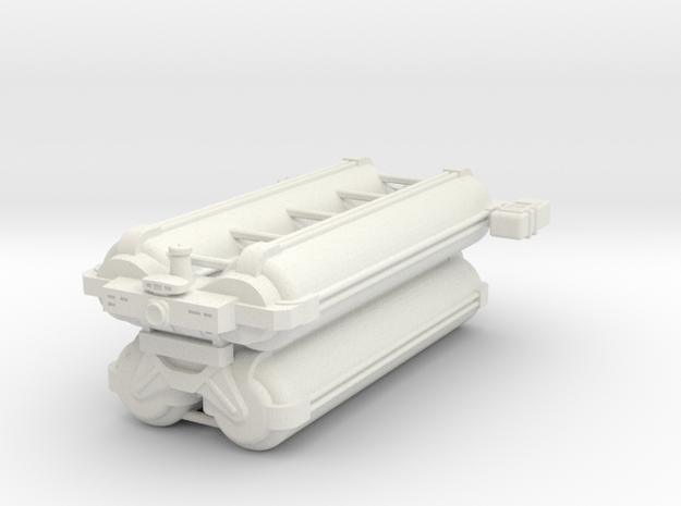 Omni Scale General Heavy Freighter (Stacked) SRZ in White Natural Versatile Plastic