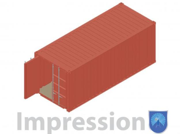 20ft shipping container 3d printed Impression of a shipping container type A