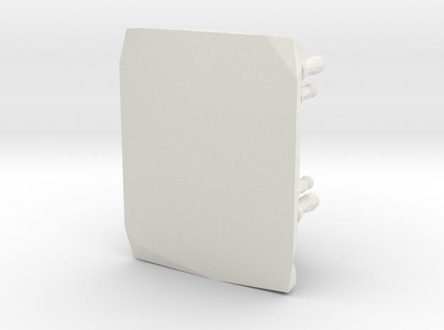 Geometric Chess Board in White Natural Versatile Plastic