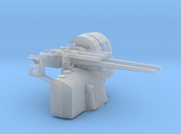 1/144 IJN Type 89 127mm Twin Mount in Smooth Fine Detail Plastic