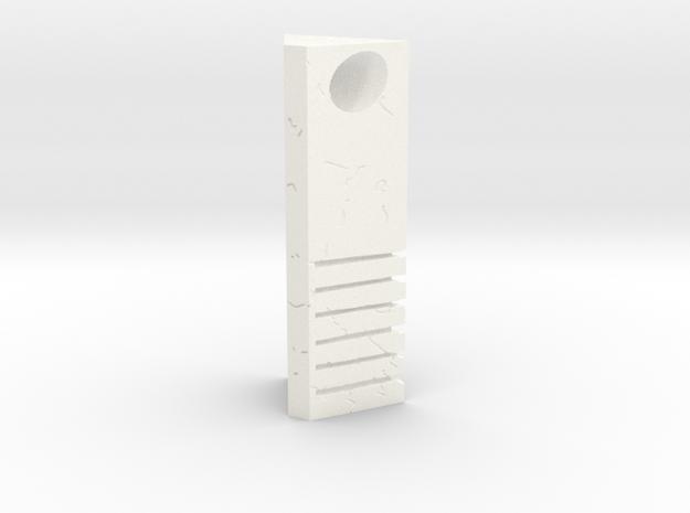 Earth Stone Pendant in White Processed Versatile Plastic