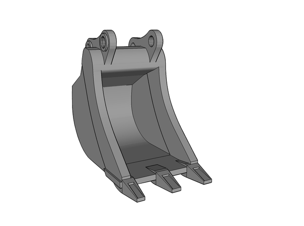 HO - Bucket Narrow for 20-25t excavators in Smooth Fine Detail Plastic
