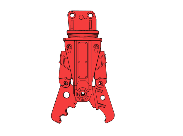 HO - Demolition Shear for 25-35t excavators in Smooth Fine Detail Plastic