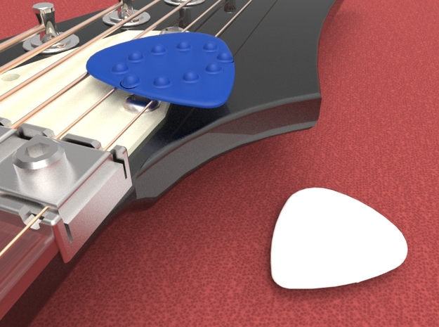 Dimple Guitar Pick - Oval Shape 3d printed Guitar pick with Dimples on one side