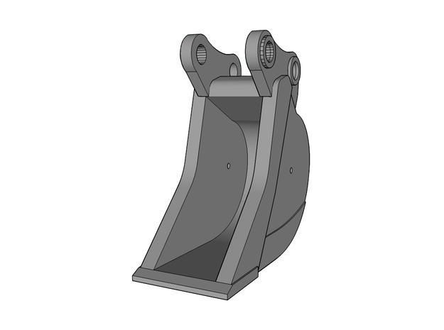 HO - Bucket Narrow for 15-20t excavators in Smooth Fine Detail Plastic