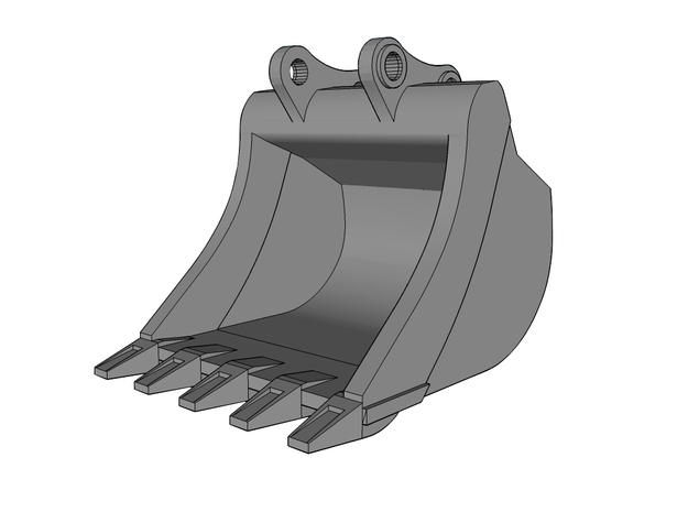 HO - Bucket for 20-25t excavators in Smooth Fine Detail Plastic