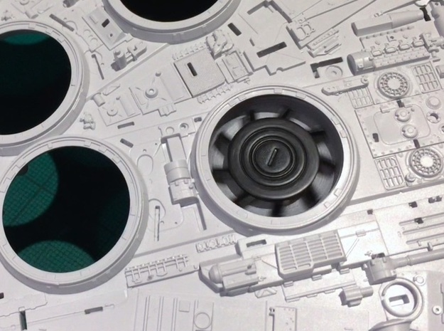 Perfect Grade Falcon, 1:72, fan dishes only in White Natural Versatile Plastic