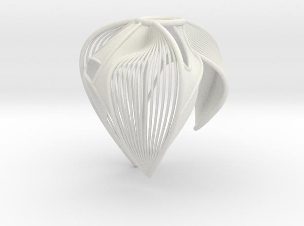 Petal Bloom #2 in White Natural Versatile Plastic