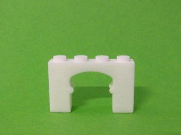 Oriental Arch Brick in White Natural Versatile Plastic