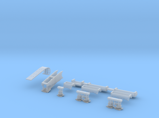 Falcon Ramp and Landing Gear, 1:350 in Smoothest Fine Detail Plastic