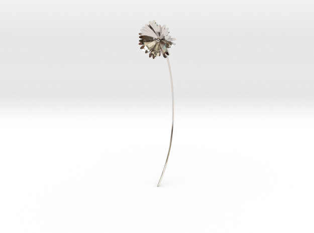 Daisy earring in Rhodium Plated