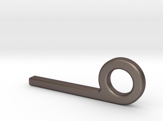 Quick Release Pin in Polished Bronzed Silver Steel