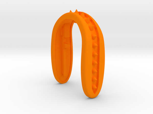 SPIKE 5 KEY FOB  in Orange Processed Versatile Plastic