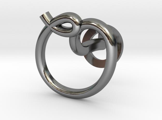 Cursive O Cufflink in Fine Detail Polished Silver