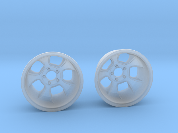 "1:25 Halibrand style ""Sprint"" wheels in Frosted Extreme Detail"