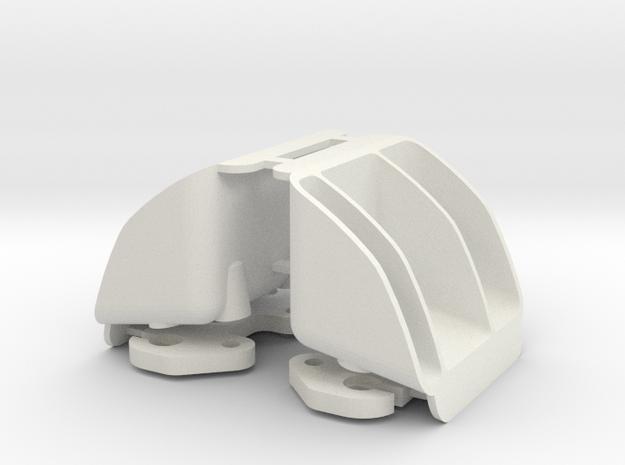 MYK-3TX002 XMAXX Tail Light Buckets in White Natural Versatile Plastic
