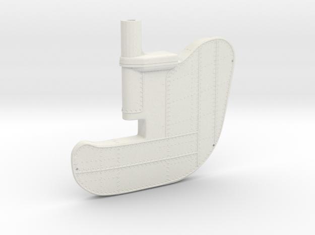 1/96 IJN YamatoRudder Big in White Natural Versatile Plastic