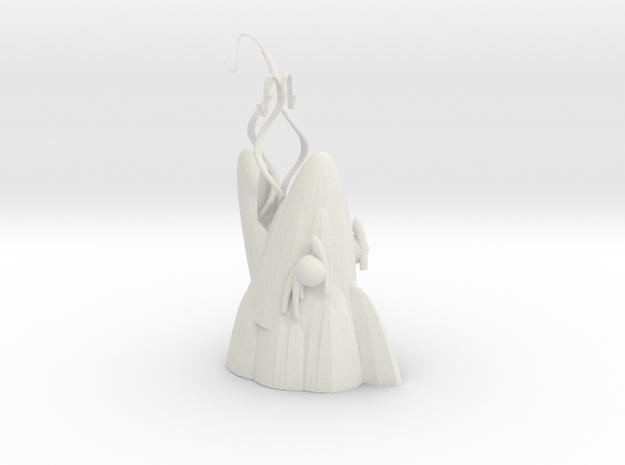 Sardine hook in White Natural Versatile Plastic