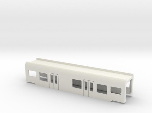 Flirt Mittelwagen Scale O mit WC in White Natural Versatile Plastic